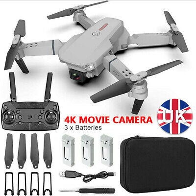 £30.99 • Buy 4K Drone X Pro WIFI FPV HD Camera 3 Batteries Foldable Selfie RC Quadcopter Gift