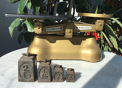 £39.99 • Buy Vintage 1930'S Avery Greengrocers Weighing Scales To Weigh 20LB & Weights