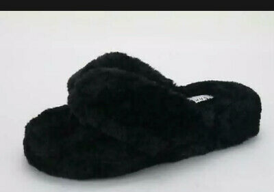 £15.62 • Buy New Bamboo WARMNESS-05 Fluffy Flip Flop Sandals - Black Size 7