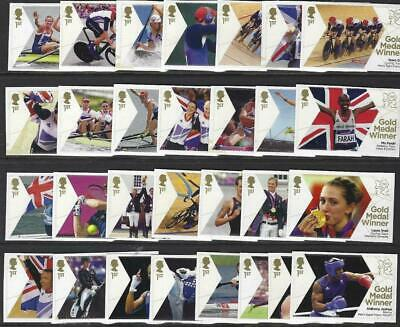 £34.99 • Buy London 2012 Olympic Games GB 29 Gold Medal Winners Stamps
