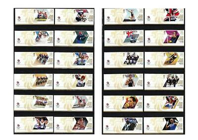 £37.99 • Buy London 2012 Olympic Games GB 29 Gold Medal Winners Stamps With Attached Logo