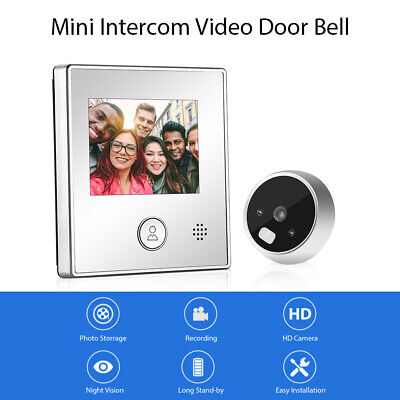 £23.49 • Buy Smart Visual Door Bell Night Vision Video Recording Home Security Entry System!