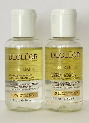 £12.95 • Buy DECLEOR AROMA CLEANSE BI-PHASE CARING CLEANSER AND MAKEUP REMOVER 50ml X2= 100ml