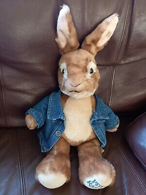 £13.99 • Buy Peter Rabbit Build A Bear Plush Teddy With Leather Jacket