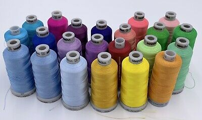 $92.99 • Buy Mixed Lot 22 Spools Cones Madeira 1000m Polyneon #40 Machine Embroidery Thread