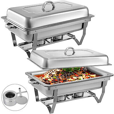 £51.99 • Buy Chafing Dish Set 2 Packs Of 9L Chafer Dish S/Steel Buffet Catering Food Warmer