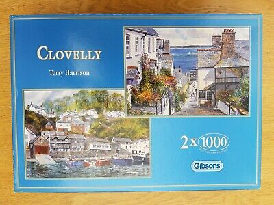 £14.99 • Buy Gibsons Clovelly Terry Harrison 2 X 1000 Piece Jigsaw Puzzle
