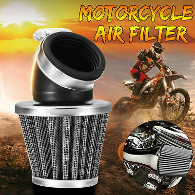 £9.99 • Buy 35/38/48/50mm Air Filter Pod 45 Degree Bend Cone Motorcycle Scooter ATV Dirtbike
