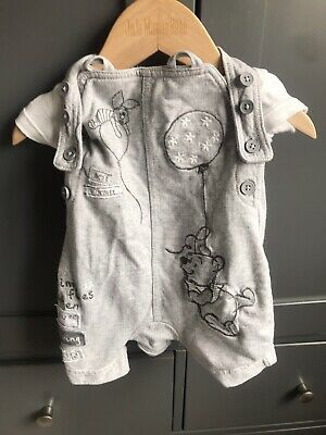 """£2.50 • Buy Disney """"Winnie The Pooh"""" 0-3 Months Dungaree In Very Good Condition"""