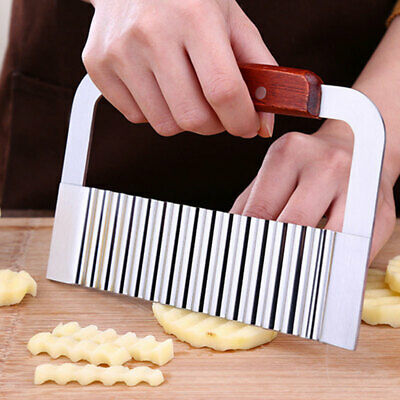£4.72 • Buy Crinkle Cutters Stainless Steel Wave Potato Cutter Cutting Tool French Fry ALUK