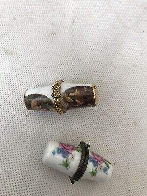 £12.50 • Buy Thimble Collection Hinged Set Of 2 Unique Retro Lovely Well Made