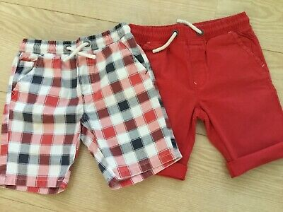 £1.50 • Buy Boys 2 Pack Red And Check Shorts From Next 10 Years