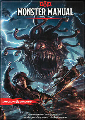 AU31.46 • Buy Dungeons And Dragons Monster Manual 5th Edition 3.5 X 2.5 Magnet