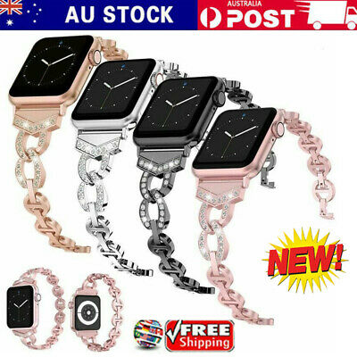 AU14.99 • Buy Bling Stainless Steel Band Strap Bracelet For Apple Watch Series 6/5/4/3/2/1 SE