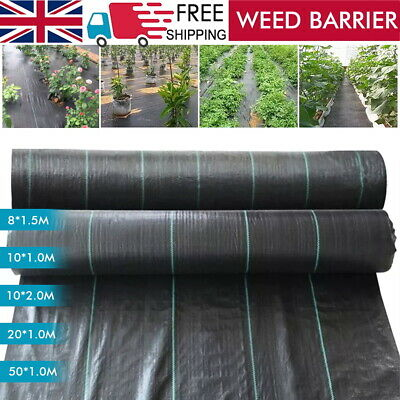 £13.99 • Buy Heavy Duty Weed Control Fabric Membrane Garden Ground Cover Mat Landscape 120gsm