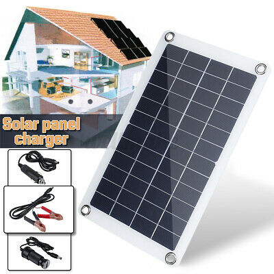 £18.58 • Buy 30W Solar Panel 12 Volt Trickle Battery Charger 30A Controller For Car Van Boat