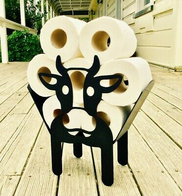 £14.99 • Buy Novelty Cow Toilet Roll Holder Free-Standing Bathroom Tissue Paper Storage Gift