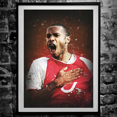 £3.99 • Buy Thierry Henry Poster - Arsenal Wall Art Print