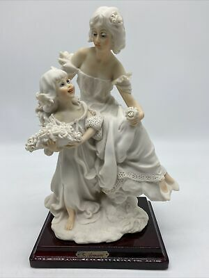 $ CDN230.08 • Buy Vtg Armani Statue Sculpture Figurine Mother Daughter Florence Italy 1987 Signed
