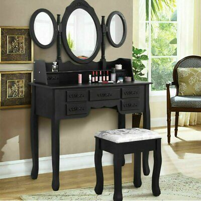 AU175 • Buy Dressing Table Stool Mirrors Jewellery Cabinet Tables 7 Drawers Organizer