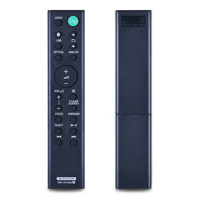 £6.74 • Buy RMT-AH103U Remote Control For Sony Sound Bar  HT-CT80 SA-CT80 SS-WCT80
