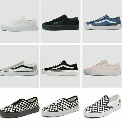 £15.99 • Buy All Size Women Canvas Shoes Classic Vans Old Skool Skater Men Trainers Hi Lo Top