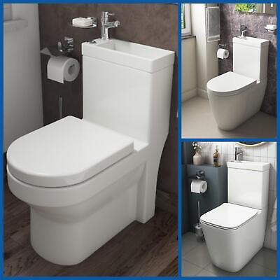 £249.99 • Buy 2 In 1 Close Coupled Toilet And Basin Compact Combo With Seat Set Space Saver
