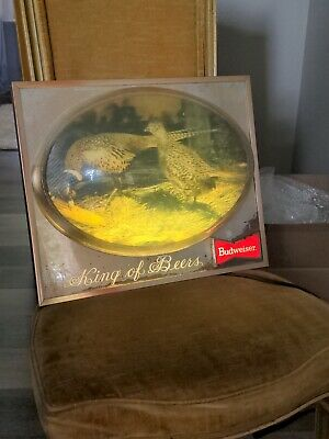 $ CDN280.14 • Buy Vintage**rare** Budweiser Beer Lighted 3d Pheasant Hunting Bubble Sign