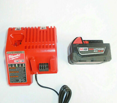 $104.99 • Buy (1) GENUINE Milwaukee 48-11-1850 M18 5.0Ah Battery And Charger Starter Kit NEW
