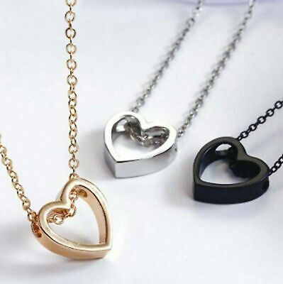 $1.95 • Buy Fashion Women Heart  Pendant Charm Necklace Jewelry W/ 19  Stainless Steel Chain