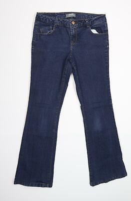 £8 • Buy Dorothy Perkins Womens Blue  Denim Flared Jeans Size 12 L28 In