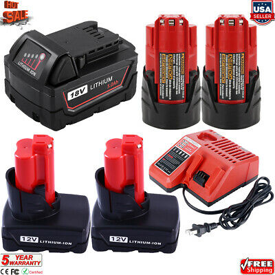 $50.01 • Buy For Milwaukee M12 M18 XC 6.0 Extended Capacity Battery 48-11-1860 / Fast Charger