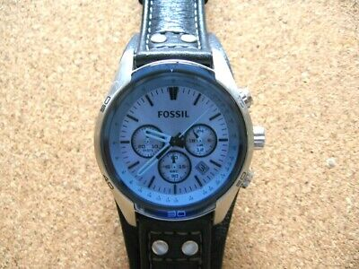 $ CDN68.76 • Buy .Mans Stainless Blue Dial Fossil Chronograph CH 2564.Excellent Working Condition