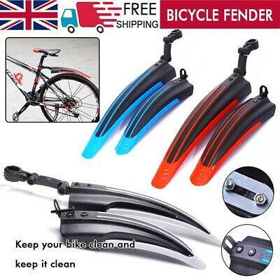 £5.99 • Buy 2x Cycling Mudguard Mountain Bike Bicycle Front + Rear Fenders MTB Mud Guards