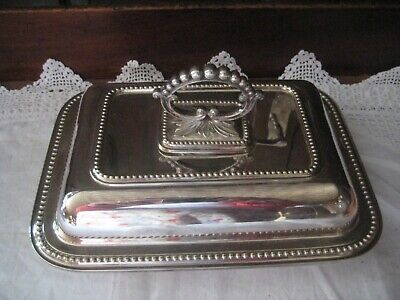 £24.99 • Buy William Marples Silver Plate Entree/Serving Dish Removable Handle Makes 2 Dishes