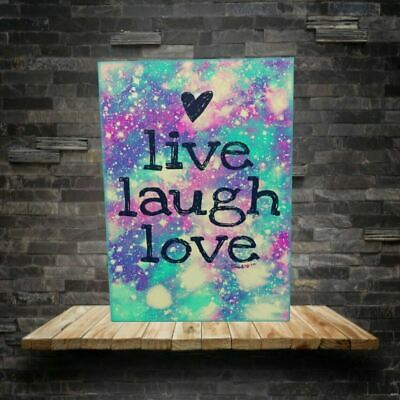 £29.99 • Buy Live Love Laugh Canvas Print 18 X30  FRAMED & MADE TO ORDER