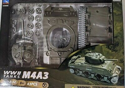 $16.99 • Buy New Ray 1:32 Scale World War II M4A3 Sherman Tank Easy Assembly Kit
