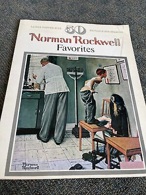 $ CDN37.16 • Buy VINTAGE BOOK OF POSTERS!! Norman Rockwell Favorites Large Suitable For Framing