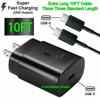 $ CDN12 • Buy 25w Type USB-C Super Fast Wall Charger+10FT Cable For Samsung Galaxy S20 S21 5G