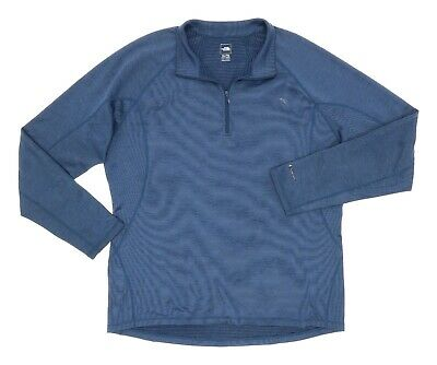 £17.89 • Buy THE NORTH FACE Baselayer XL Mens 1/2 Zip PULLOVER Mock Neck Base Layer BLUE TNF