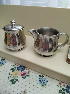 £5 • Buy Salangor Quality Pewter Made In Malaysia. Two Useful Items Jug  And Sugar Bowl