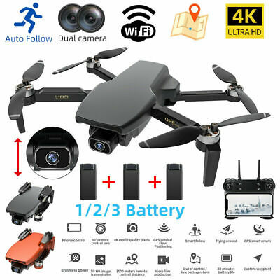 AU39.99 • Buy 5G 4K GPS Drone X Pro With HD Dual Camera Drones WiFi FPV RC Quadcopter Foldable