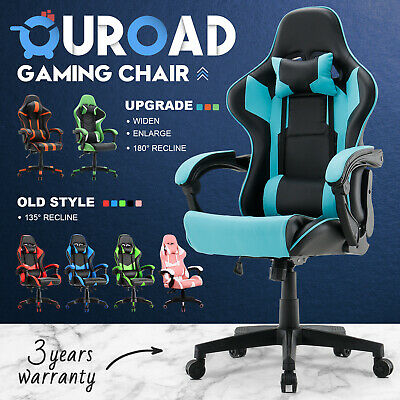 AU119.90 • Buy Upgraded Executive Office Chair Gaming Computer Seat Racer Recliner PU Leather