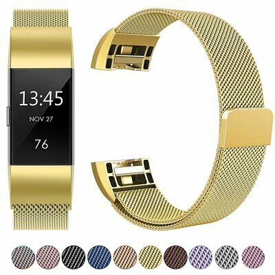 AU8.99 • Buy For Fitbit Charge 2 Band Metal Stainless Steel Milanese Loop Wristband Strap
