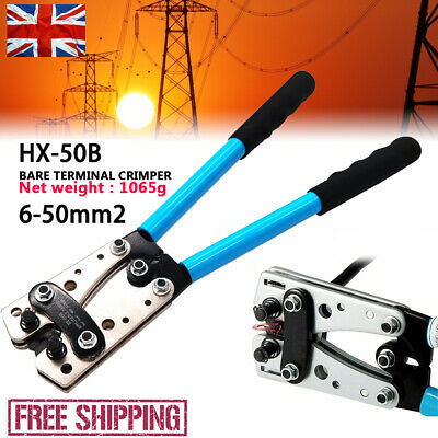 £18.39 • Buy 50mm² Hydraulic Crimper Crimping Tool Dies Wire Battery Cable Hose Lug Terminal