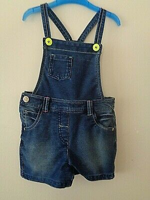 £2.50 • Buy Girls NEXT Short Denim Dungarees - Age 3-4 Years In Very Good Condition