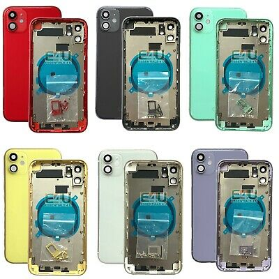 £23.95 • Buy For IPhone 11 Housing Metal Frame Glass Back Chassis Cover Replacement