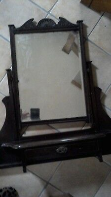 £20 • Buy Vintage/Antique Edwardian Dressing Table Top With Mirror And Shelf/drawer