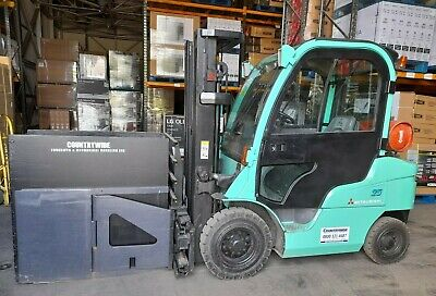 £12500 • Buy Mitsubishi Gas Powered Counterbalance Forklift Truck Fitted With Carton Clamps