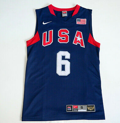£106.19 • Buy USA Basketball Team Olympic Beijing 2008 #6 LeBron James Nike Authentic Jersey S
